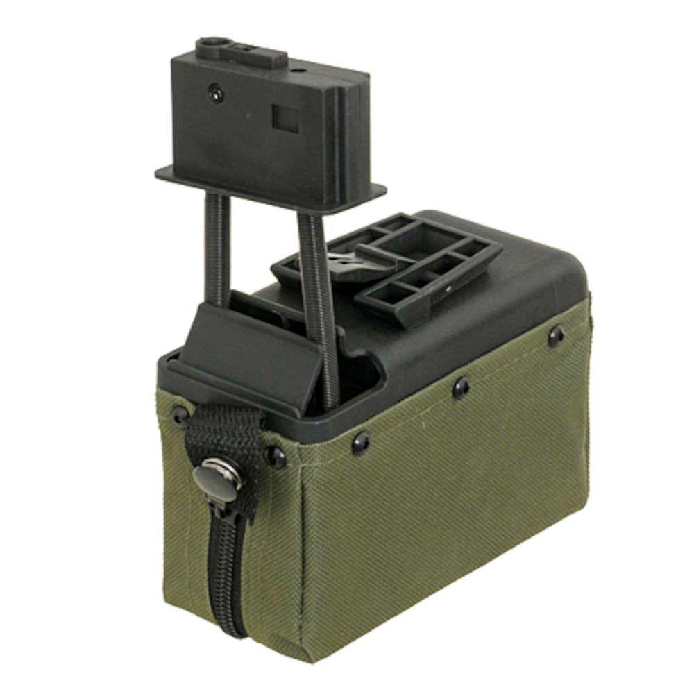AMMO BOX 1500 BILLES POUR REPLIQUE AIRSOFT M249 - BATTLEAXE