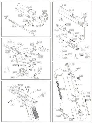 FIRE SELECTOR (PART G-79) - G18C - WE