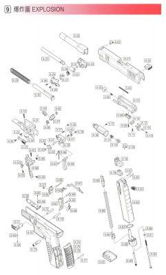 MAGAZINE BASE O-RING (PART N°87) - XDM -WE