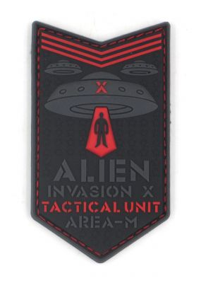 PATCH 3D - ALIEN INVASION - X-FILES - PVC - JTG