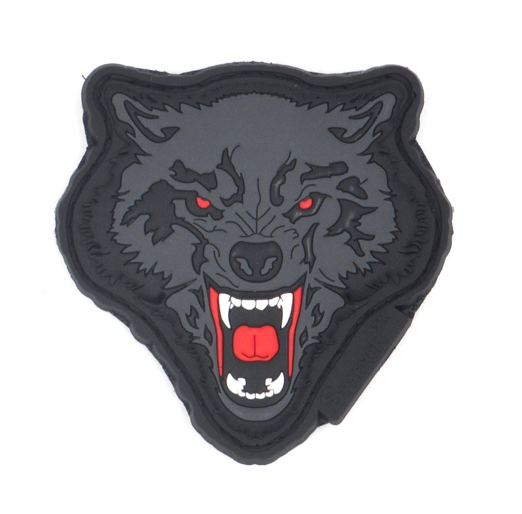 PATCH 3D - ANGRY WOLF - PVC - JTG