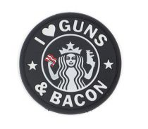 PATCH 3D - GUNS & BACON - PVC - JTG