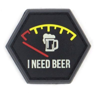 PATCH 3D - I NEED BEER - PVC - JTG
