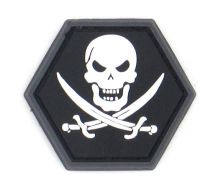 PATCH 3D - NO FEAR PIRATE SKULL - PVC - JTG