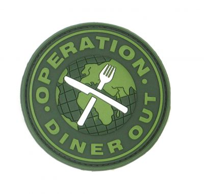 PATCH 3D - OPERATION DINER OUT - PVC - JTG