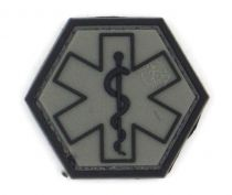 PATCH 3D - PARAMEDIC HEXAGON - PVC - JTG