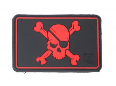 PATCH 3D - PIRATE SKULL - PVC - JTG