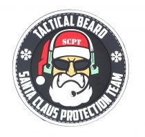 PATCH 3D - TACTICAL BEARD SANTA CLAUS - PVC - JTG