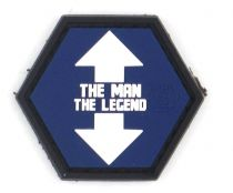 PATCH 3D - THE MAN THE LEGEND - PVC - JTG