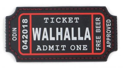 PATCH 3D - WALHALLA TICKET - PVC - JTG