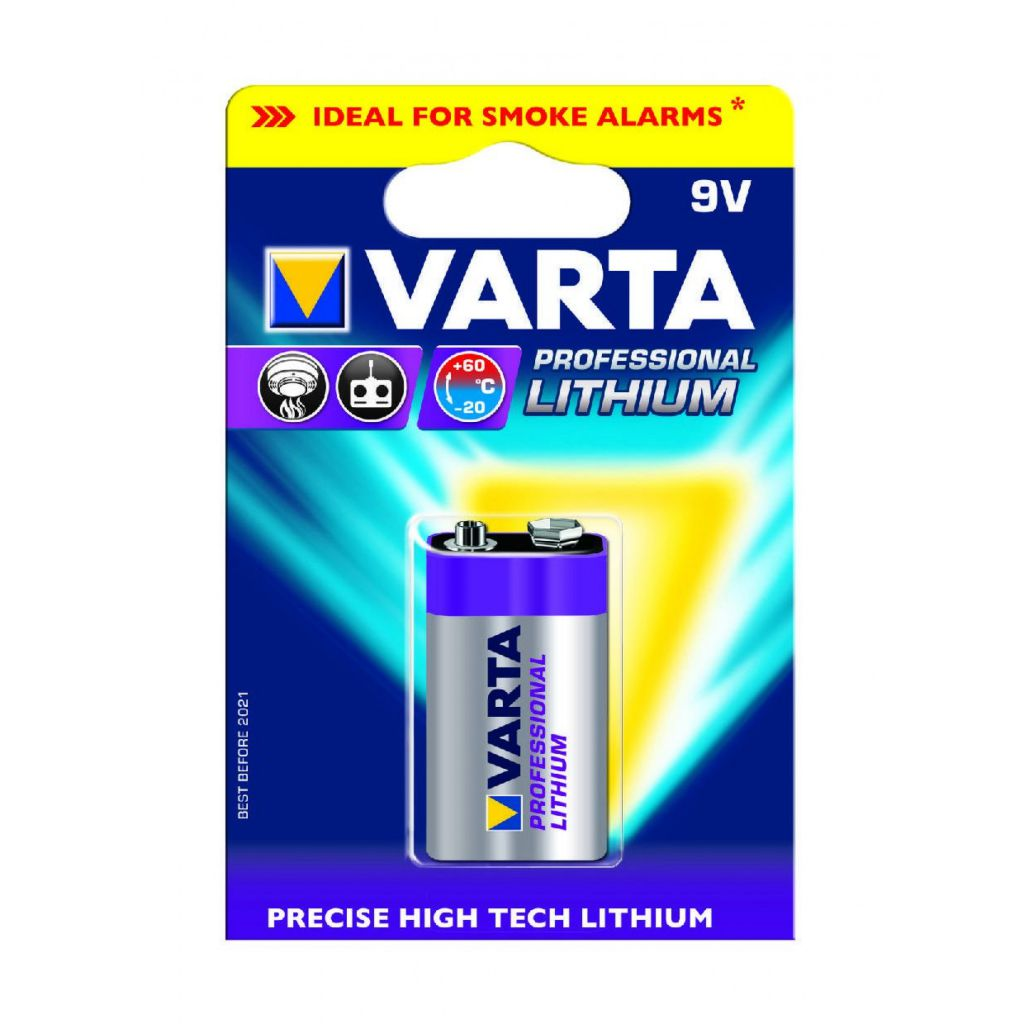 Pile lithium 9V Professionel - VARTA