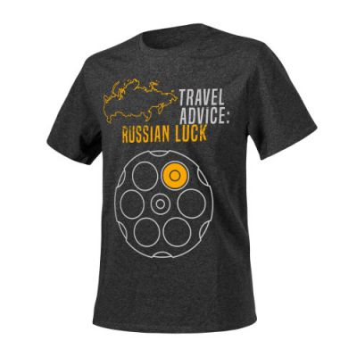 T-SHIRT TRAVEL ADVICE RUSSIAN LUCK - HELIKON TEX